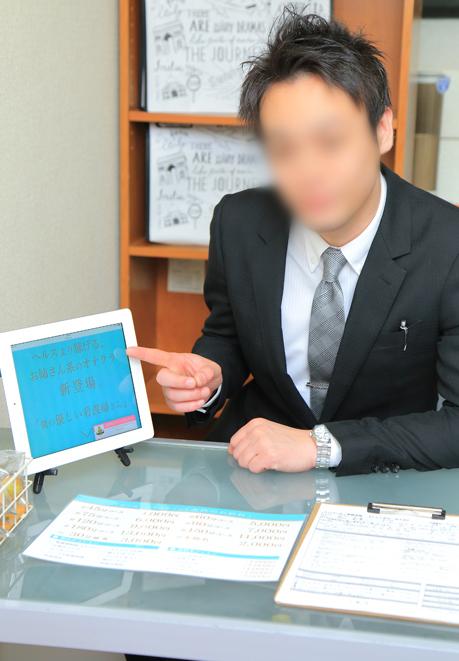 受付カウンターの写真